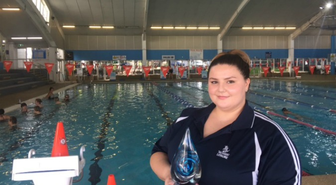 austswim award winner kaley robinson from Willoughby Leisure Centre